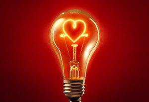 heart lightbulb