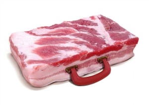 meat suitcase